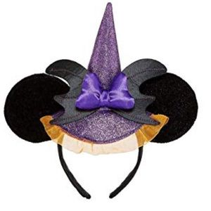 Girls Minnie Mouse Halloween Witch Ears Headband